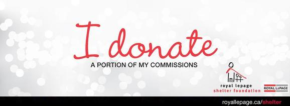 I donate a portion of my commission on every sale.